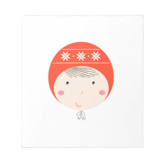 Little cute baby on white / Xmas edition Notepad