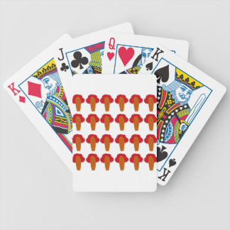 Little cute baobabs bicycle playing cards