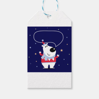 Little cute kids toy smiling gift tags