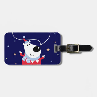 Little cute kids toy smiling luggage tag