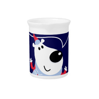 Little cute kids toy smiling pitcher