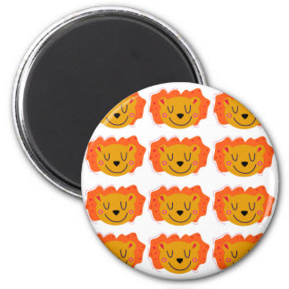 Little cute Lions on white Magnet