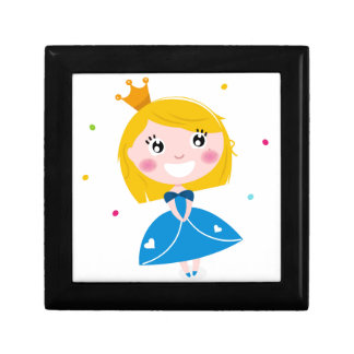 Little cute princess Blue Gift Box