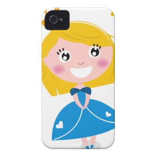 Little cute princess Blue iPhone 4 Case-Mate Cases