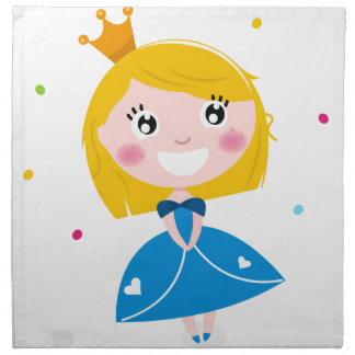 Little cute princess Blue Napkin