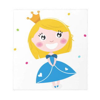 Little cute princess Blue Notepad
