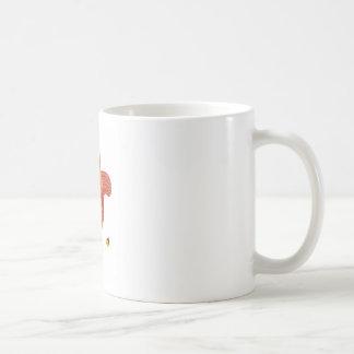 Little cute squirel on white coffee mug