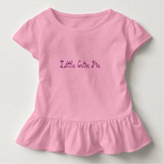 """Little Cutie Pie"", Toddler Ruffle Tee"