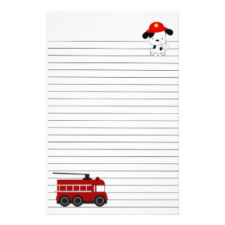 Little Dalmatian and Fire Engine Stationery