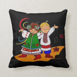 Little Dancers Ukrainian Folk Art Cushion