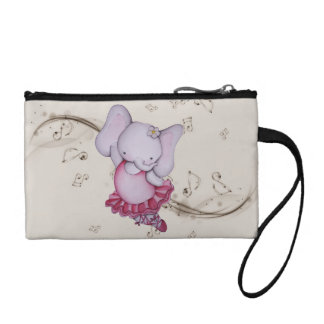 Little Dancing Ballerina Elephant Key Coin Clutch Coin Wallets