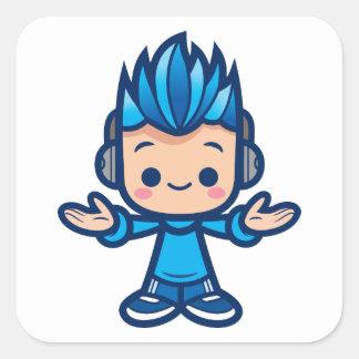 Little Deej Square Sticker