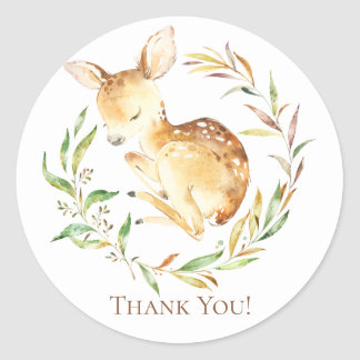 Little Deer Baby Shower Thank You Favor Sticker