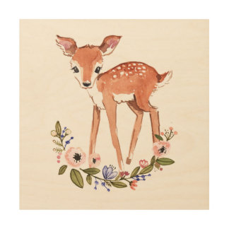 Little deer wood wall art