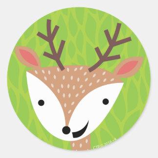 Little Deer - Woodland Friends Classic Round Sticker