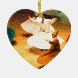 little dervishes ceramic heart decoration