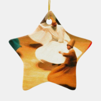 little dervishes ceramic star decoration