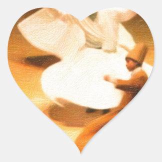 little dervishes heart sticker
