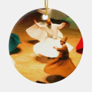 little dervishes round ceramic decoration