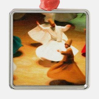 little dervishes Silver-Colored square decoration