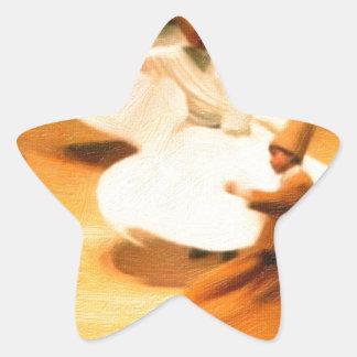 little dervishes star sticker