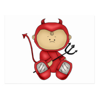 Little Devil Baby Halloween Costume Postcard