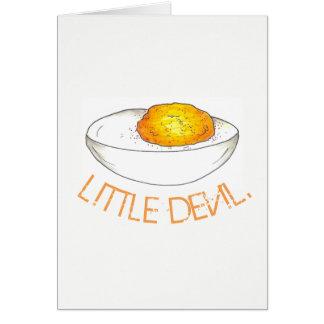 Little Devil Deviled Egg Picnic Food Cookout Card