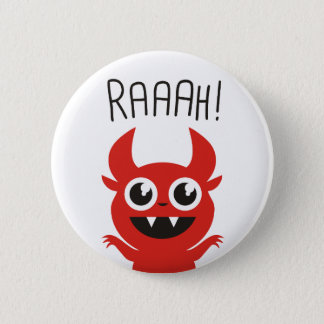 Little Devil Goes Raaah! 6 Cm Round Badge