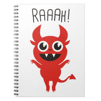 Little Devil Goes Raaah! Spiral Notebook