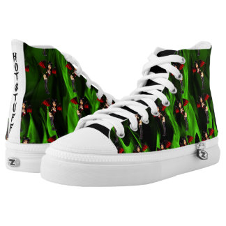 Little Devil Hot Stuff Green Flame High Tops