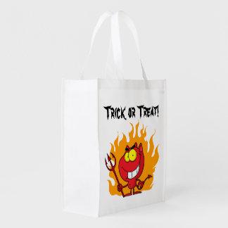 Little Devil Trick or Treat Reusable Grocery Bag