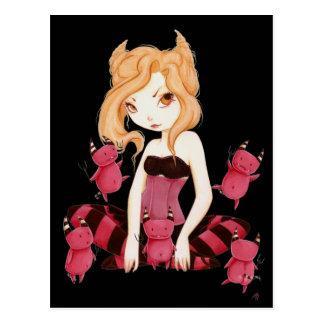 Little devils - Devils dance art fairy vampire Postcard