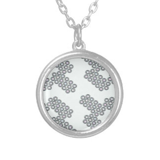 little diamonds silver plated necklace