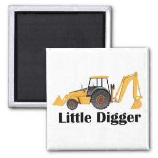 Little Digger - 2 Inch Square Magnet Square Magnet