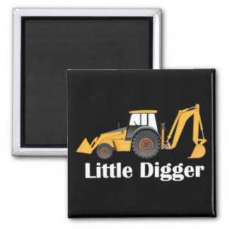 Little Digger - 2 Inch Square Magnet Square Magnet