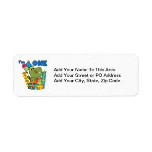 Little Dino 1st Birthday T Shirts And Gifts Return Address Label