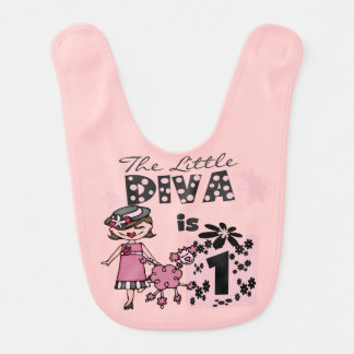 Little Diva 1st Birthday Bib