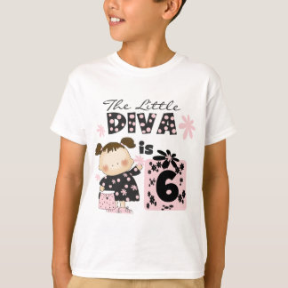 Little Diva 6th Birthday Tshirts and Gifts