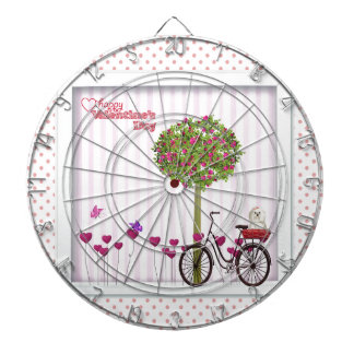 Little Dog, Basket, Bicycle, Flower Tree and Heart Dartboard