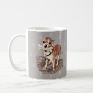Little Dog, Big Bone Coffee Mug