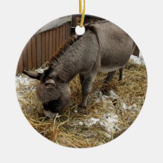 Little Donkey Christmas Ceramic Ornament