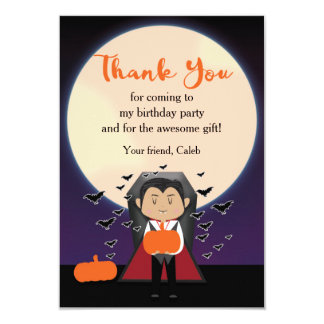 Little Dracula Vampire Halloween Thank You Card