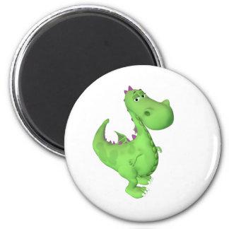 Little Dragon 6 Cm Round Magnet