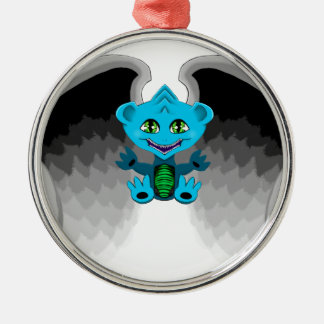 Little Dragon with Wings Metal Ornament