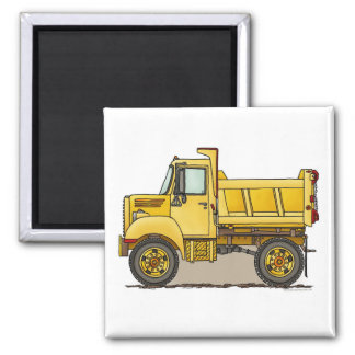 Little Dump Truck Square Magnet