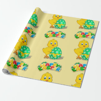 Little Easter Chicken Cartoon Wrapping Paper