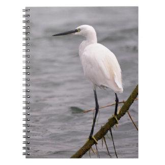 Little egret perched spiral notebook