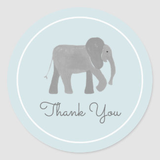 Little Elephant Classic Round Sticker