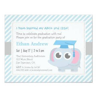 Little Elephant Kids Kindergarten Graduation Party 11 Cm X 14 Cm Invitation Card