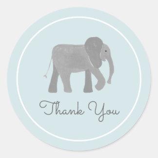 Little Elephant Round Sticker